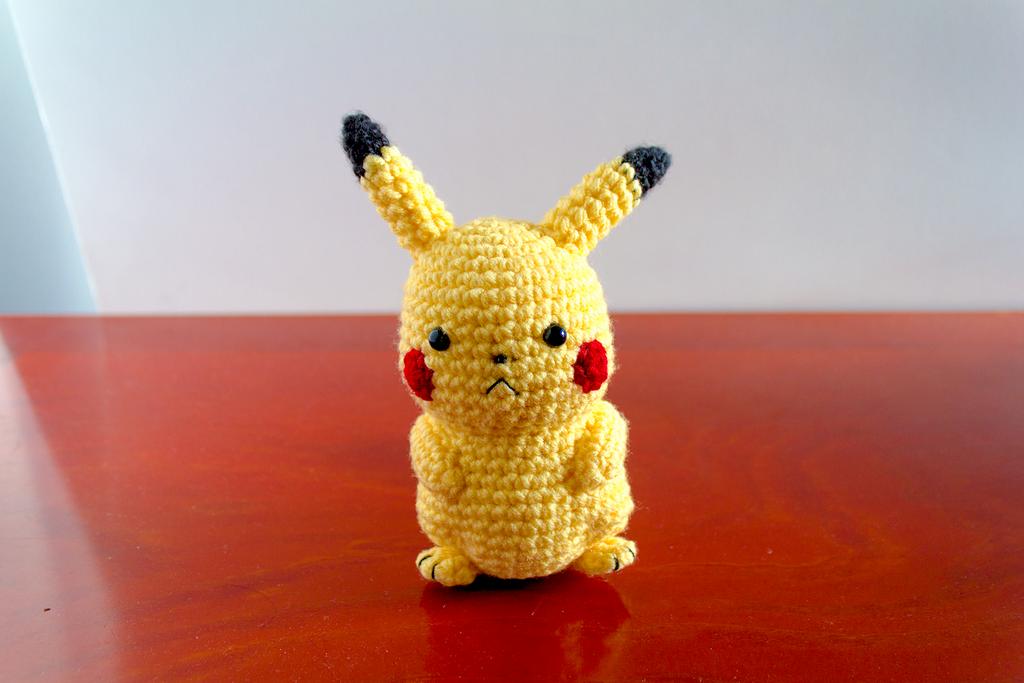 Amigurumi Pokemon Ball : Amigurumi Pikachu Front View by FudgeNuggets on DeviantArt