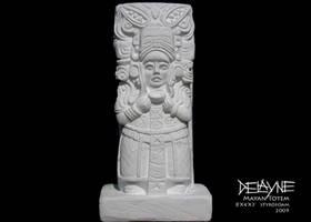 Mayan Stele by sculptin