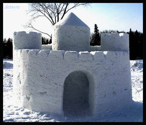 SilverSkate Snow Castle by sculptin