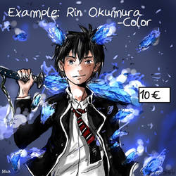 Rin Okumura- Example  Color Comission