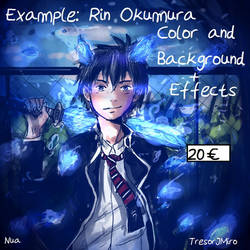 Rin Okumura- Example  Color+Background+Effects