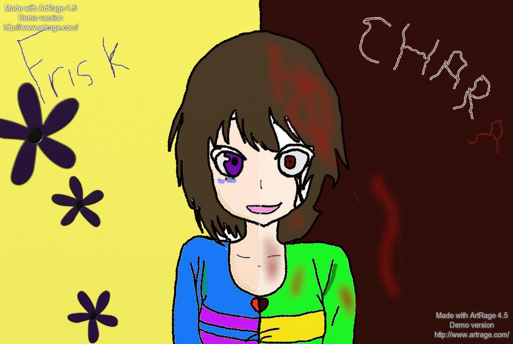 Undertale - Frisk and Chara *Happy Valentines Day by