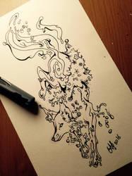 Water fox Ink by Killian-Hollow