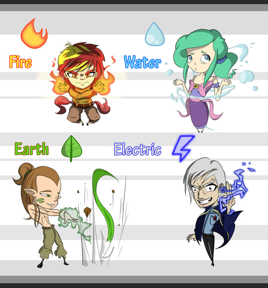 Free Elemental Adoptable Set Giveaway [CLOSED] by WhiteMaze