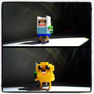 Jake and Finn (Adventure Time) by VoxelPerlers