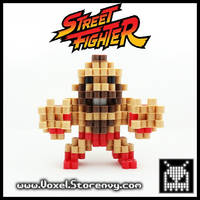 Zangief 3D Voxel Perlerbead (#Streetfighter) by VoxelPerlers