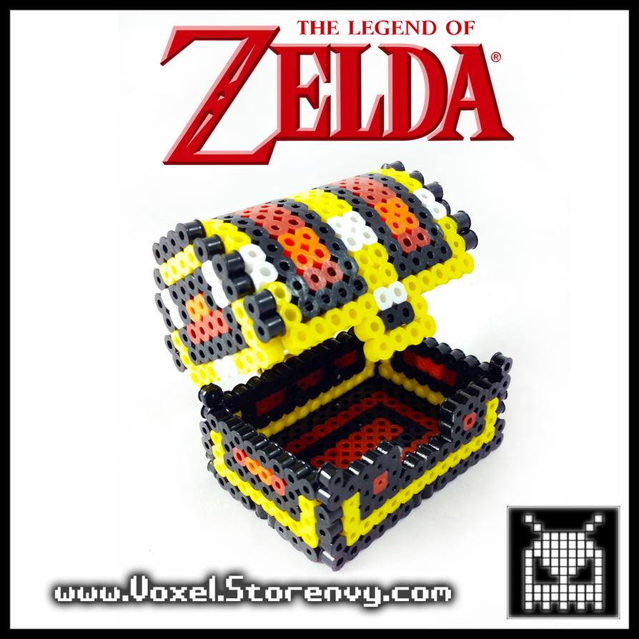 Legend of Zelda Treasure Chest by VoxelPerlers