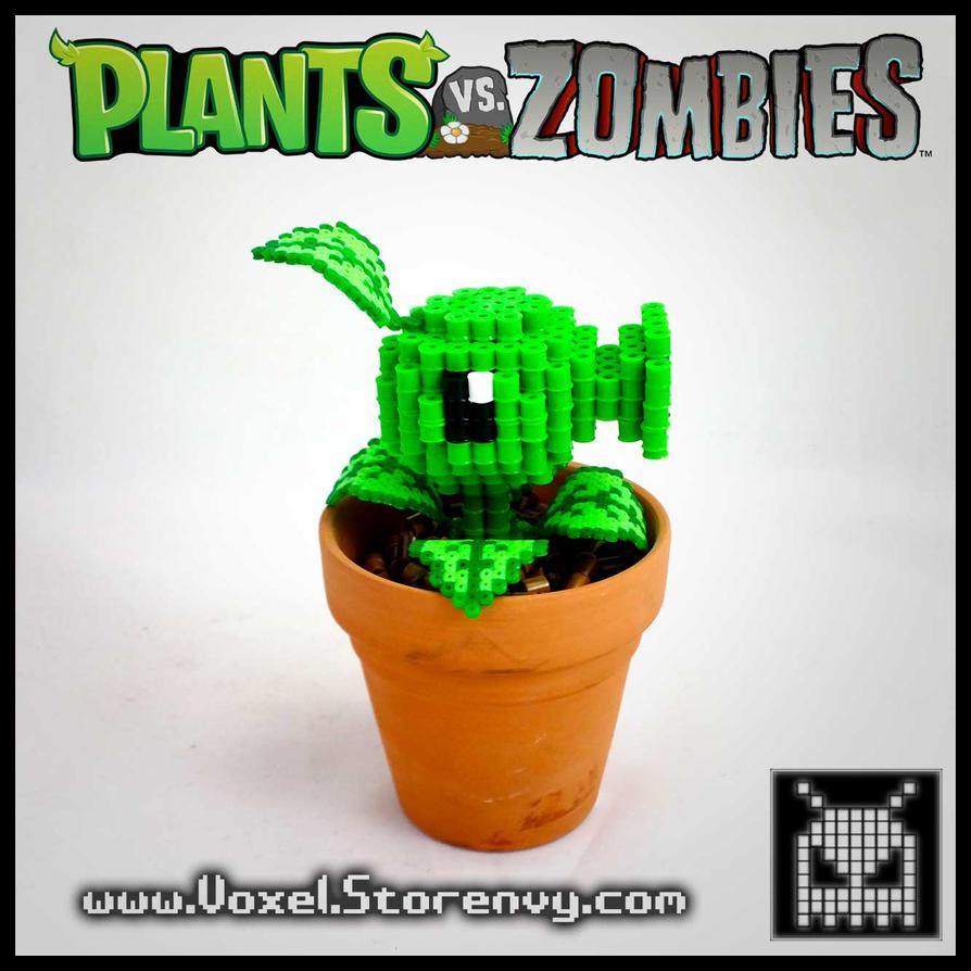 Peashooter (Plants vs. Zombies) by VoxelPerlers