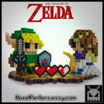 Link and Zelda  by VoxelPerlers