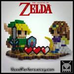 Link and Zelda  by VoxelPerlers