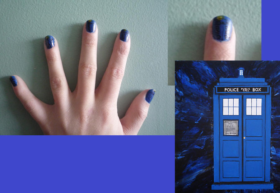 My Tardis Nails By Squeek98j On Deviantart