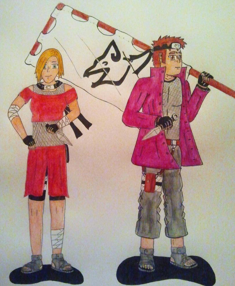 Me and Nessa: Ninja's of the Hidden Jackal Village by toasterroaster