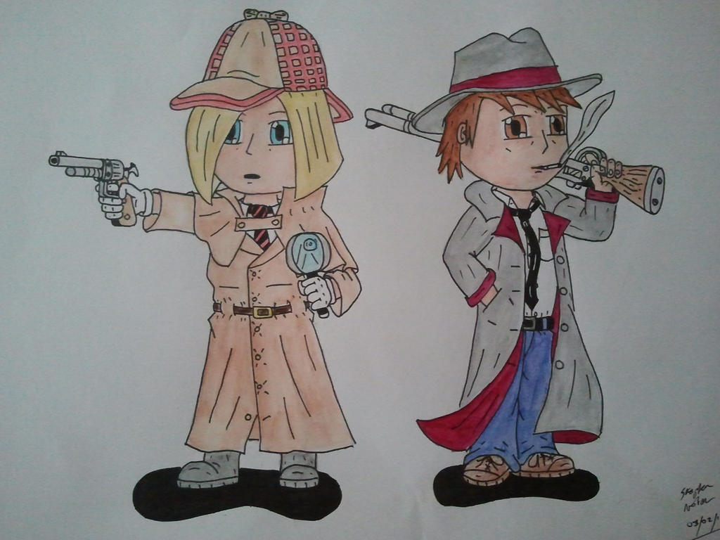 The Random Detectives! (coloured) by toasterroaster