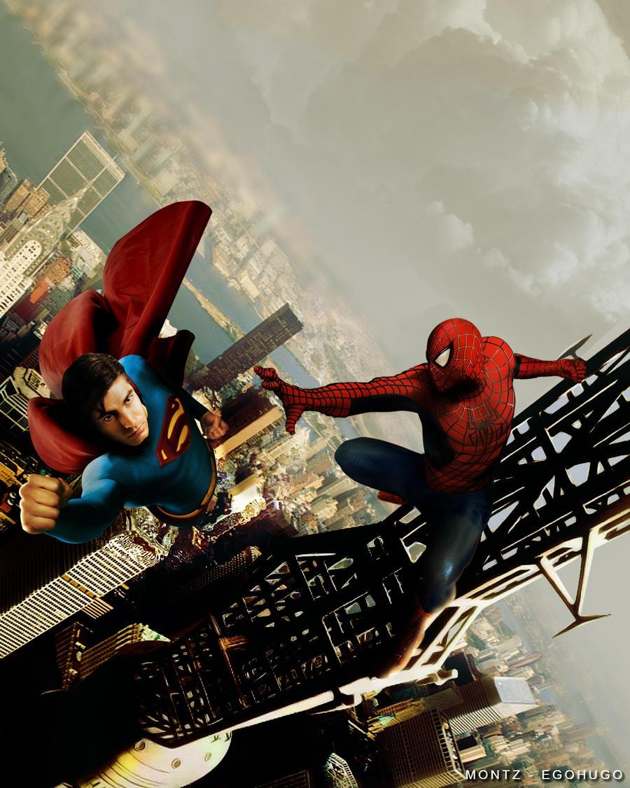 Superman vs Spiderman by Egohugo on DeviantArt
