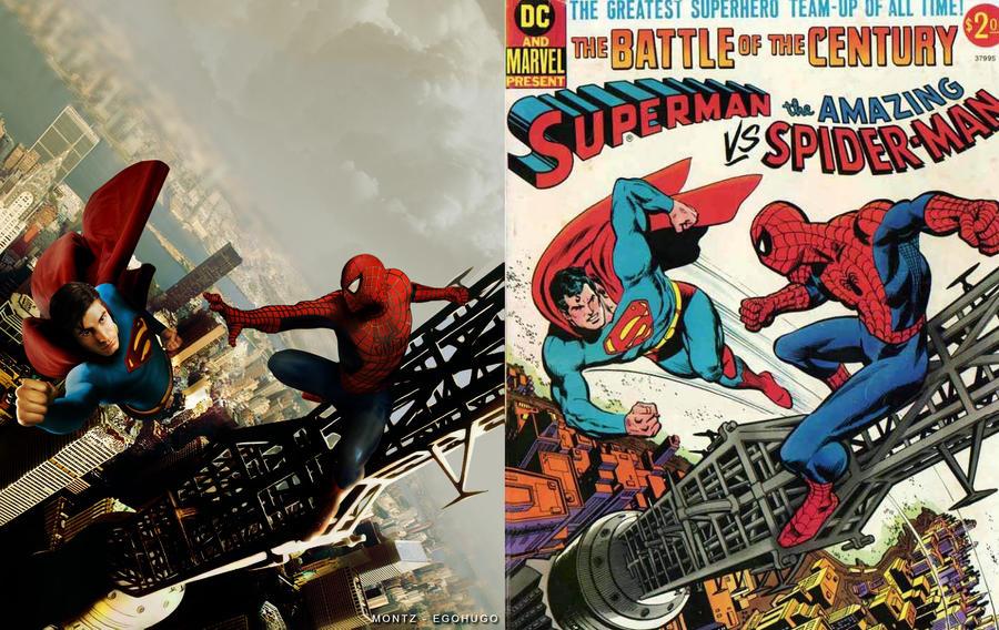 Superman vs Spiderman vs Cover by Egohugo on DeviantArt