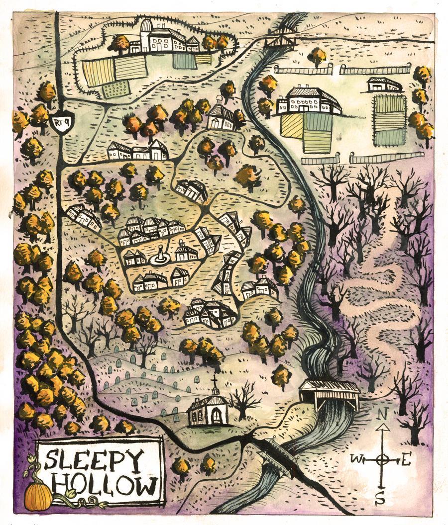 Sleepy Hollow Ny Pinkster: Sva. Map Of Sleepy Hollow By Mernolan On DeviantArt