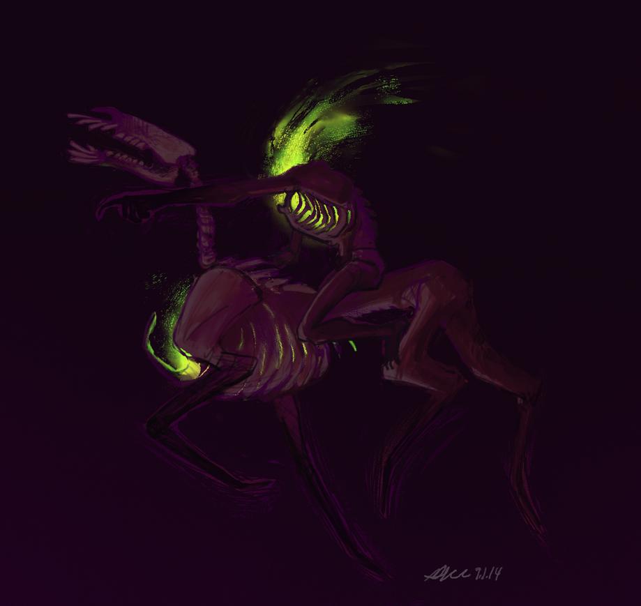 Sketch Challenge - Boneyard Horseman by mernolan