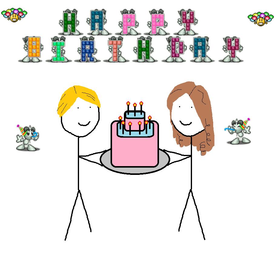 Happy birthday GLEE-CHAN!!! by daredevinho