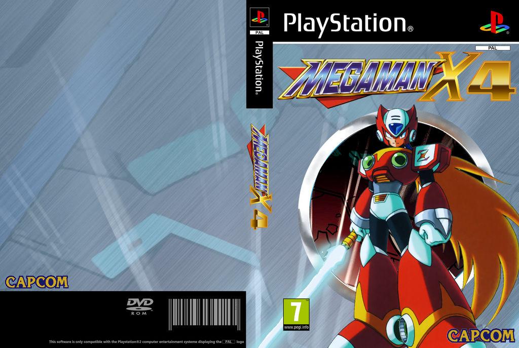 Commission* PS1 Megaman X4 Custom Box Art by cx7001 on