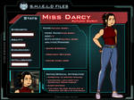 Marvel OC: Miss Darcy S.H.I.E.L.D. File by QueenJoou