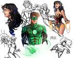 Hal Jordan and Diana Prince