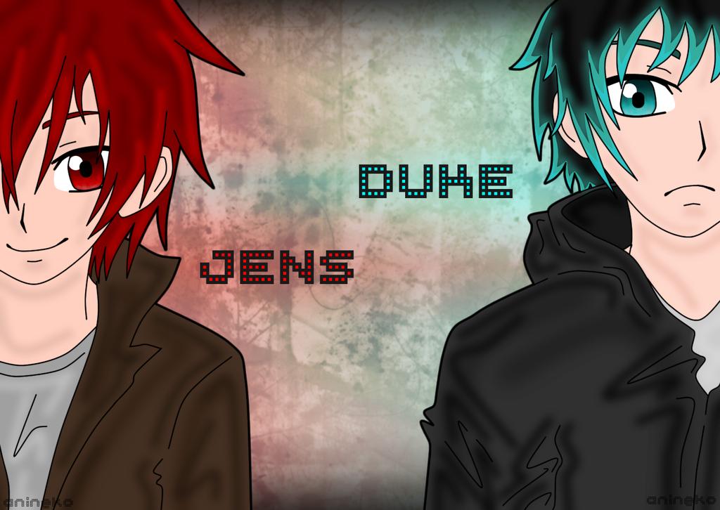 Jens and Duke by anineko