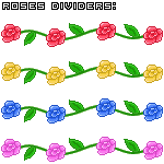 Roses dividers by anineko