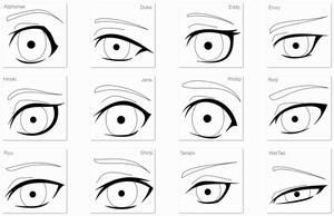 OC eyes lineart by anineko