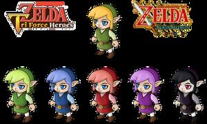 Four Swords like TriForce Heroes by anineko