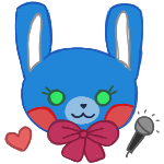 Toy Bonnie kawaii pagedoll by anineko