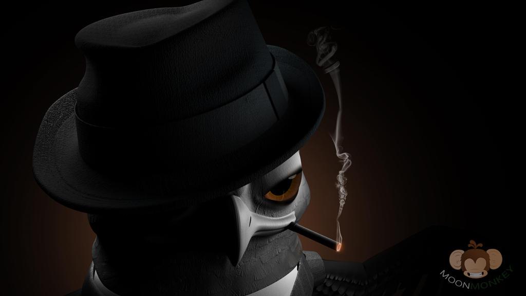 Noir Mafia Owl by TheMoonMonkey