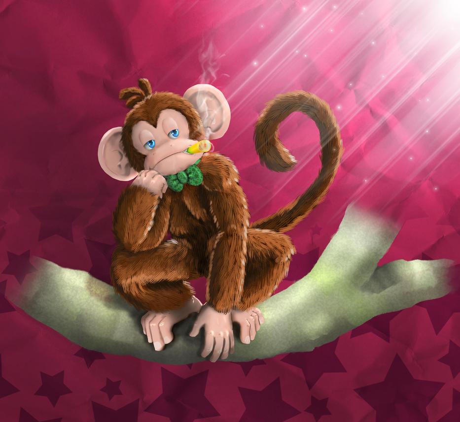 Moon Monkey Healthy Habit by TheMoonMonkey