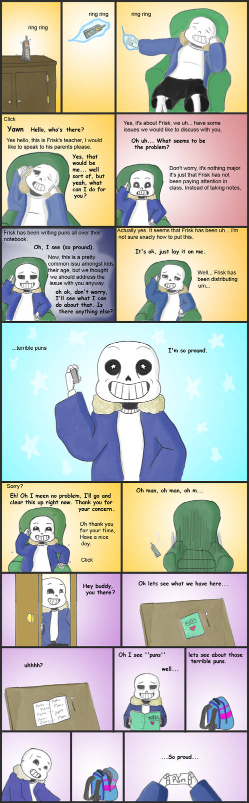 Undertale Frisk's ''puns'' by The-Great-Pipmax on DeviantArt