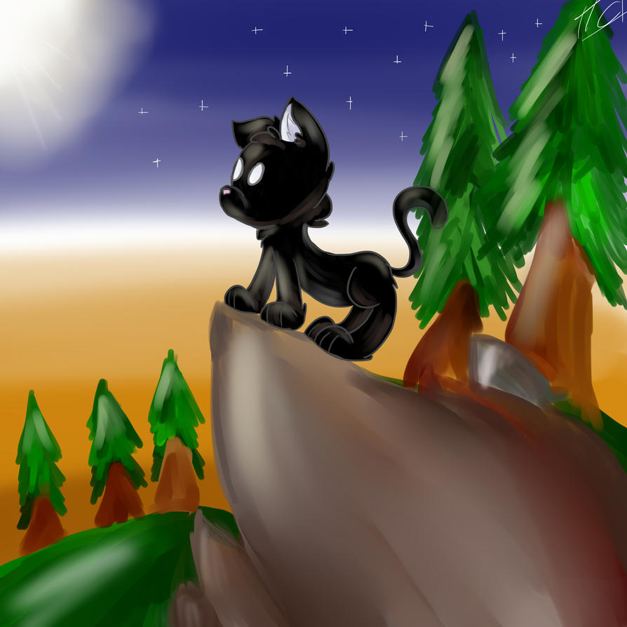 Black kitten....(? by ITigerChanI
