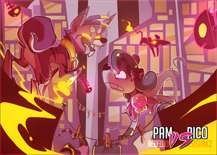 FE - Pam vs Rico by Felipoid