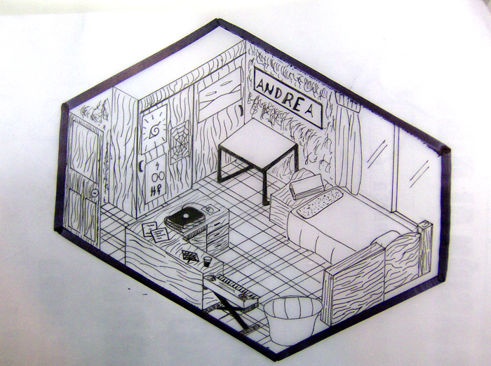 My room isometric by andreatn on deviantart for Draw my room
