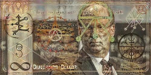 Discordian Dollar Note - Visit Larry