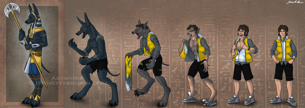 Wolf Transformation Sequence Anubis Transfor...