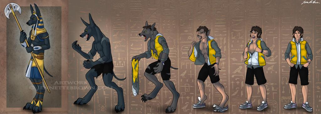 Wolf Transformation Sequence Anubis Transfor...