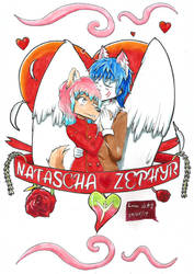 Valentines Card - Natascha+Zephyr by arc-rose