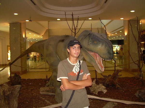 T Rex in a shopping mall by nobrantan