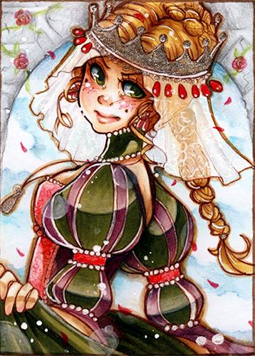 ACEO King Thrushbeard Princess by evaYabai