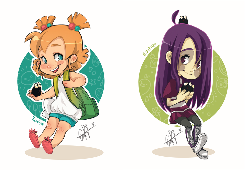Twogirls by evaYabai