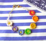 Rainbow Daisy Chain Bracelet