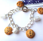 Milk n Cookies Charm Bracelet