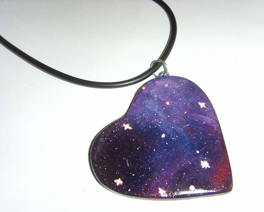 Galaxy Nebula Heart Shaped Necklace 1 by tyney123 on ...