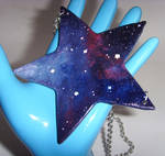 Galaxy Nebula Statement Star Shaped Necklace