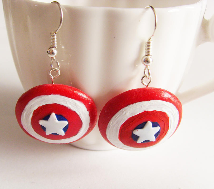 captain america earrings captain america shield earrings by tyney123 on deviantart 3464