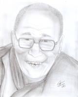 Dalai Lama by dslmwgraves