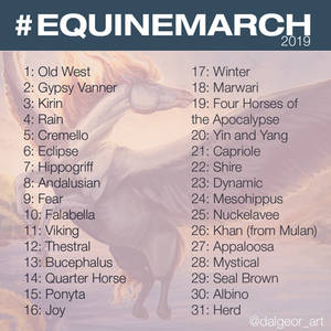 Equinemarch 2019 Is Here By Dalgeor On Deviantart